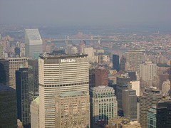 The MetLife Building Looks So Small From The Empire State Building Doesn't It