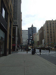 The Met Life Building Seen From 33rd Street On A Cool Day