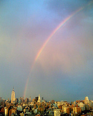 Both Rain And Shine In A City Of Equals, Rainbow Over The New York Skyline