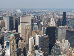 View From The Air Of The MetLife Building, With The Former Chrysler Building Nearby.