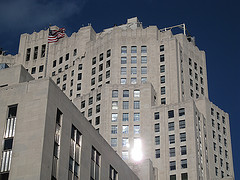 Flag Flies Above Metropolitan Life North Building On A Clear Day