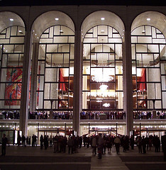 The Grand Facade Of The Metropolitan Opera.