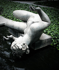 Fallen Statue At Museum Of Modern Art