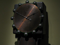 I Decorative Metal Clock In The Museum Of Modern Art.