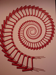 A Red Spiral Painting Photo Take At The Museum Of Modern Art