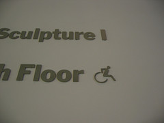 Handicapped Accessible Sign In The Museum Of Modern Art