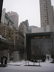 Courtyard Of The Museum Of Modern Art In Winter.