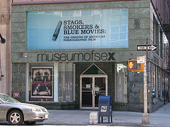 The Museum Of Sex Advertises An Exhibit About Pornographic Films.