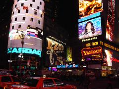 Nassau Marquee Illuminating Times Square