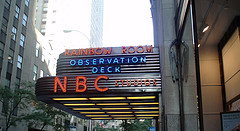The Famous Nbc Studios With The Rainbow Room Inside The Tower