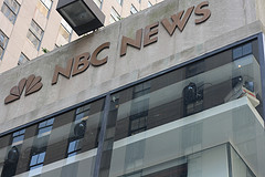 Nbc News Sign At The Famous Rockefeller Plaza
