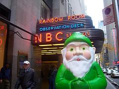Mr. Gnome At The Rockefeller Plaza Nbc Studios