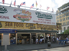 An Excellent Day To Have A Hot Dog At Nathan's Famous At 1310 Surf Avenue, Brooklyn, Nye