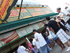 No Better Place To Get A Hot Dog Than Nathan's Famous Place.
