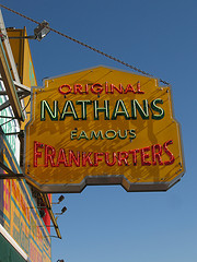 Nathan's Famous Hot Dog Stand In Brooklyn