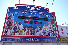 The Countdown Clock Is Running Down To The Nathan's Hot Dog Eating Contest On July 4th