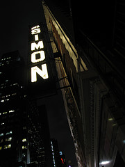 The Lighted Sign Of The Neil Simon Theatre.