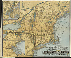 Check Out The Map Of The New York Central Railroad From Back In The Day.