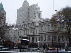 New York City Hall Still Looks Great On This Cold And Snowy Day.