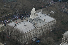 A Gathering At New York City Hall, The Oldest City Hall In America