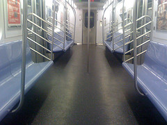 Empty Ride On The New York City Subway.