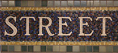 Lovely Mosaic Sign In New York Subway System