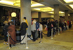 The Taxi Line At The New York Marriott Marquis In Times Square