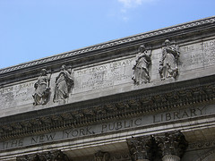 Frieze Above Entrance To The Exquisite New York Public Library Main Branch