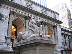 The Patience Lion Statue At The New York Public Library