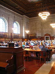 People  Studying  In The New York Public Library