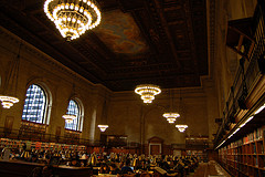 The Historic Main Room Of The New York Public Library, Which Was Opened In 1911