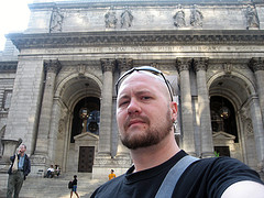 Front Of The New York Public Library Which Declared It A National Historic Landmark In 1965.