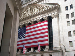 Enormous American Flag Dominates The New York Stock Exchange