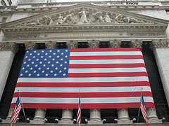 Flags At The New York Stock Exchange