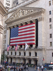 American Flags Fly Proudly At The New York Stock Exchange