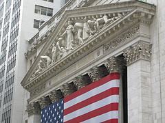 Figural Sculptures On The Facade Of The New York Stock Exchange