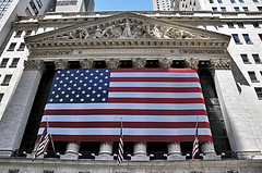 The American Flag Is Proudly On Display At The New York Stock Exchange