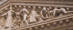 A Very Well Shot Picture Of The New York Stock Exchange's Roman Art Archway
