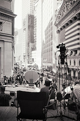 New York Stock Exchange From A Media Vantage Point