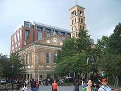 Washington Square Park And Bell Tower At New York University