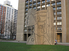 This Photograph Is Of A Sculpture At New York University