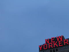 The Red Neon Sign Of The New Yorker Hotel