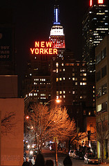 A Night Time View Of The New Yorker Hotel.