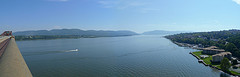 View From The Newburgh-beacon Bridge Spanning The Hudson River.