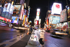One Times Square Bustles With Activity And Excitement Throughout The Night.