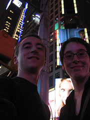 Look At This Good Looking Couple Having Some Fun At One Times Square.