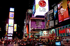 Look At All The Lights And Fun At One Time Square.