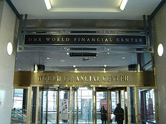 Lobby Of The One World Financial Center Skyscraper In Lower Manhattan.