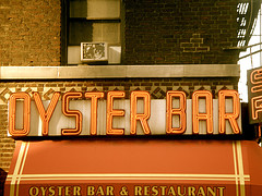 A Timeless Shot Of The Oyster Bar's Sign And Awning.