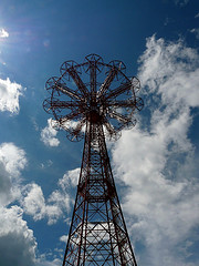 The Top Of The Parachute Jump Ride